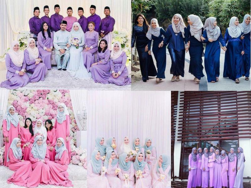 24 Pilihan Warna Baju Bridesmaid Yang Confirm Korang Suka
