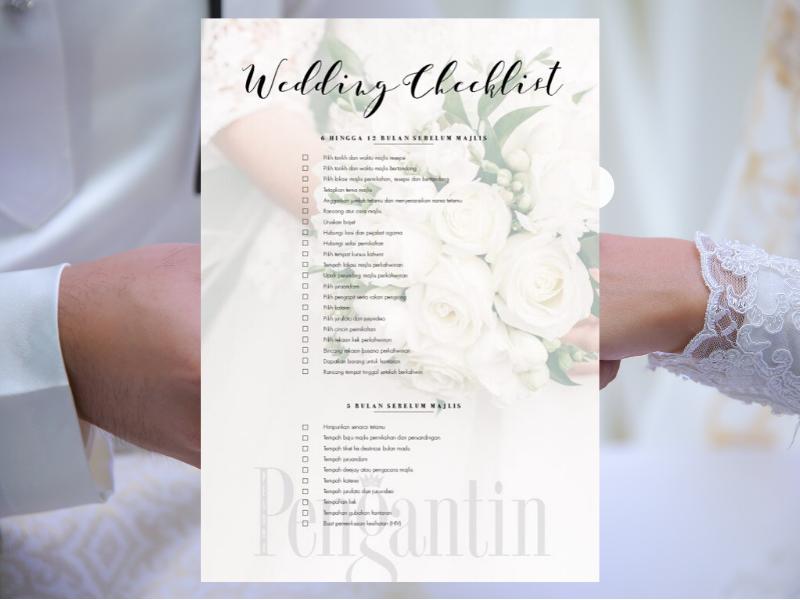 Checklist Dari Merisik Sampai Ke Majlis Kahwin Yang Mungkin Boleh Bantu Buat Persiapan Nanti Pesona Pengantin